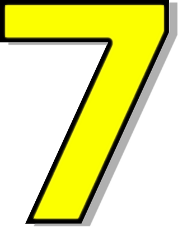 Number free download best. 7 clipart yellow