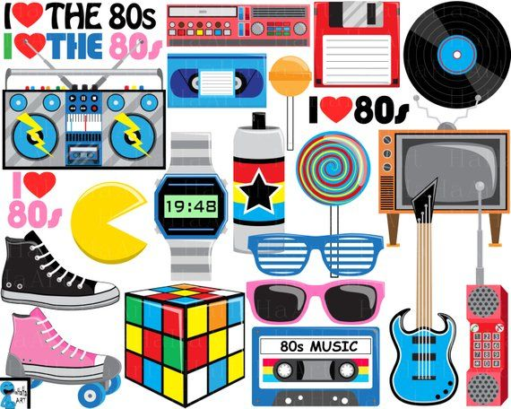 I love the s. 80's clipart