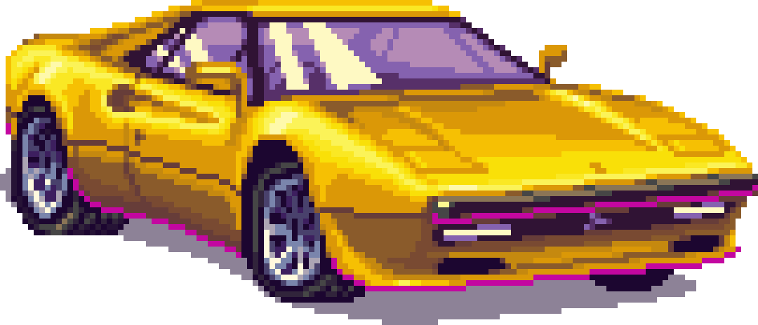 Retro s png transparent. 80's clipart 80 car