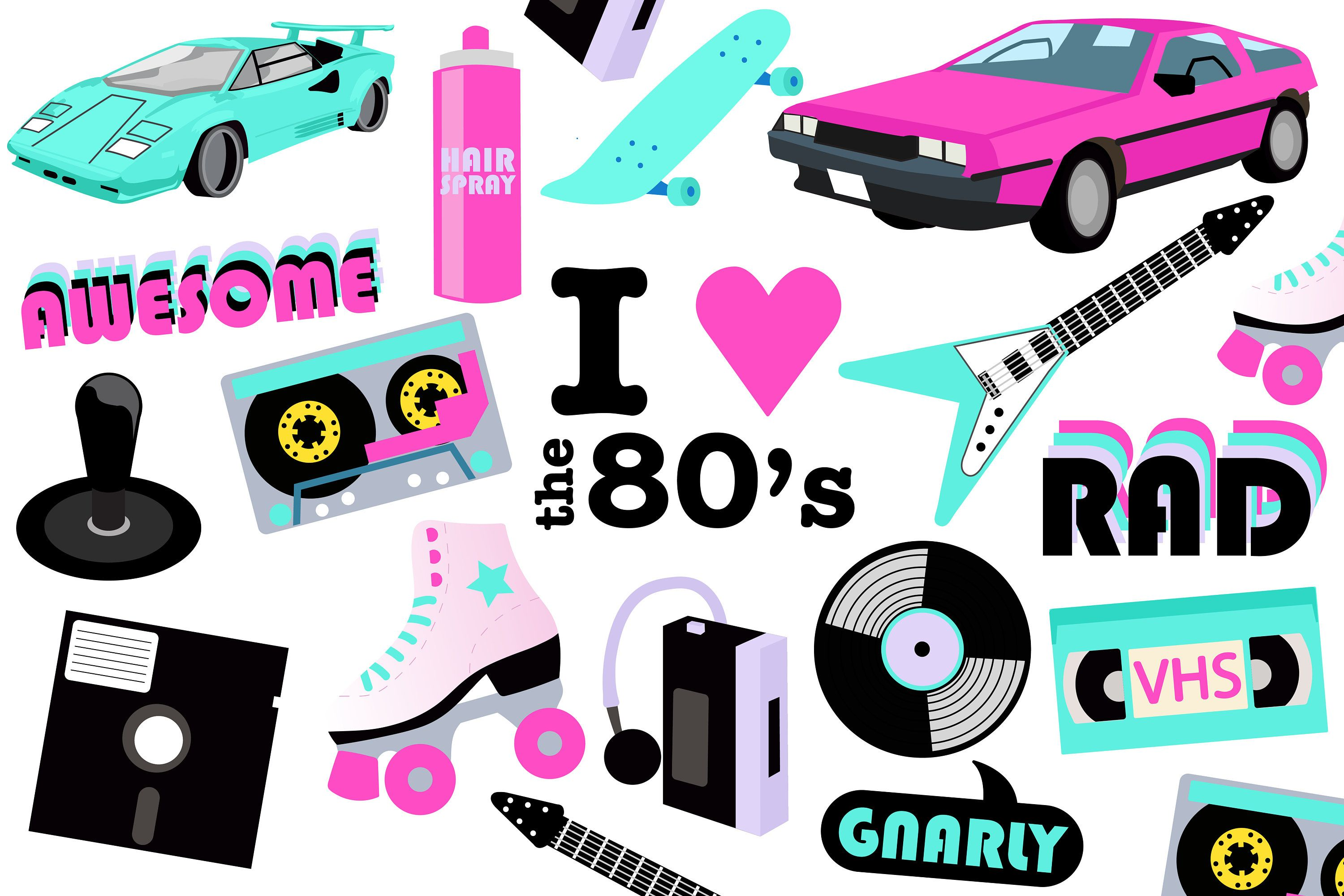 80's clipart 80 car.  s printable party