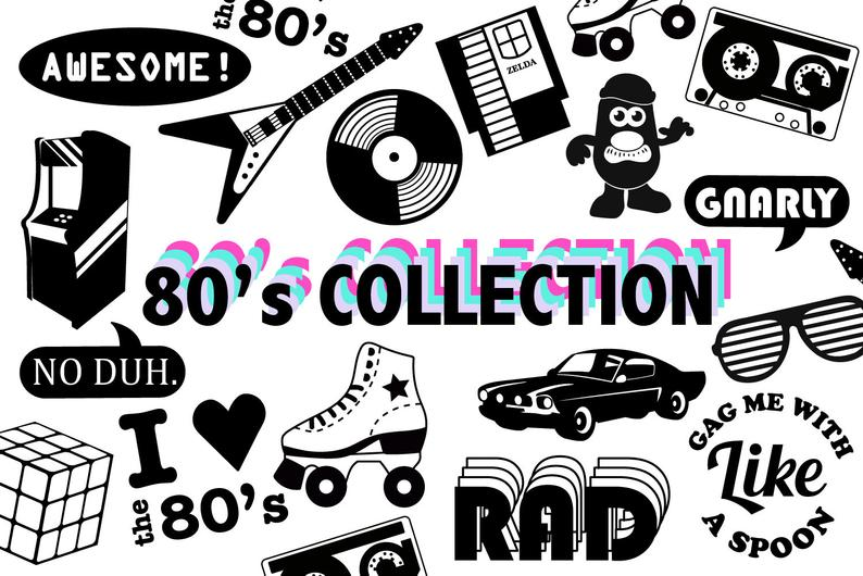 s svg collection. 80's clipart 80 car