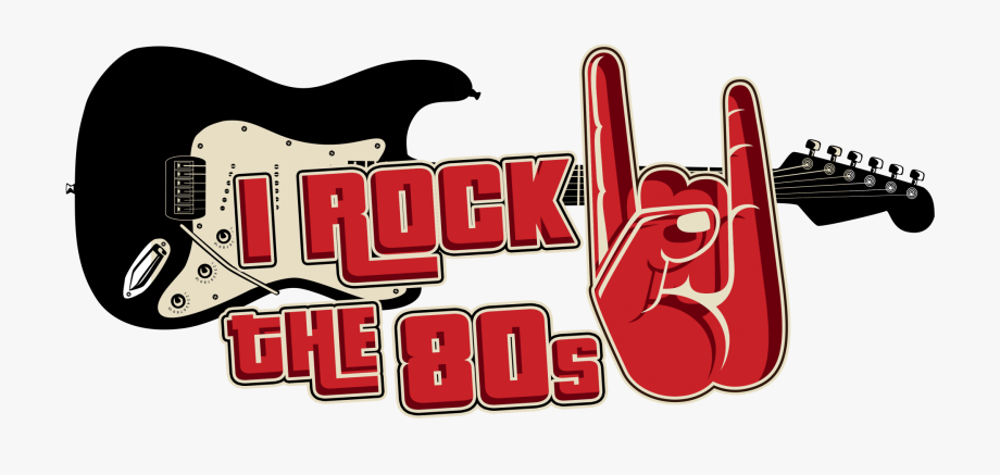 I rock the s. 80's clipart 80 guitar