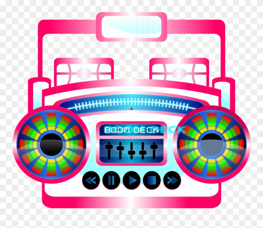 s pop clip. Boombox clipart music note