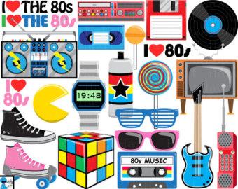 s etsy i. 80's clipart 80 music