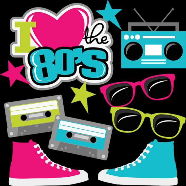 80's clipart 80 radio.  tracks the most