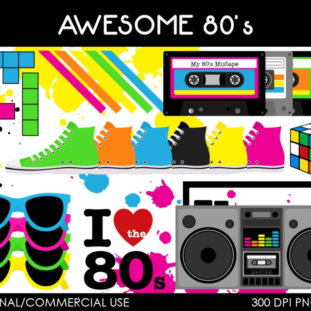 tracks cool in. 80's clipart 80 radio