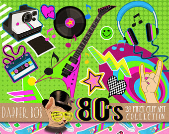 80's clipart 80 rock.  s etsy i