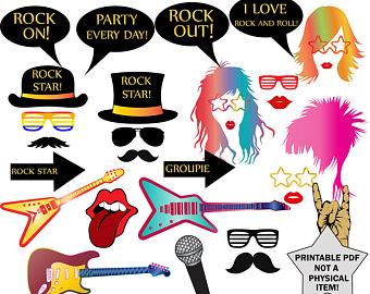 s band etsy. 80's clipart 80 rock