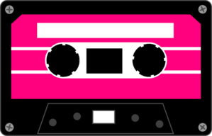 80's clipart audio tape