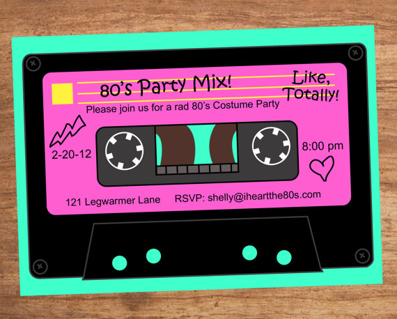 s party mix. 80's clipart audio tape