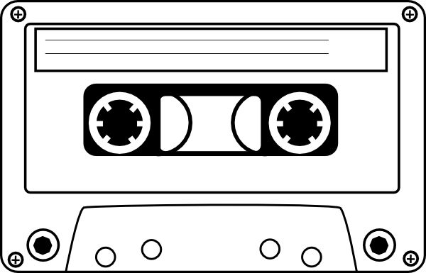 Free music cliparts download. 80's clipart audio tape