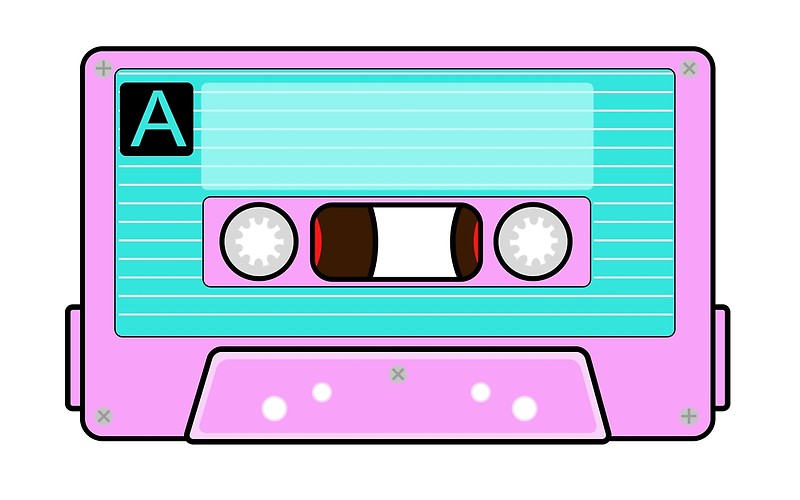 80's clipart audio tape. Back to the s