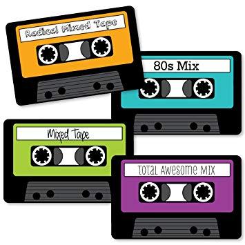 80's clipart audio tape. Amazon com s retro