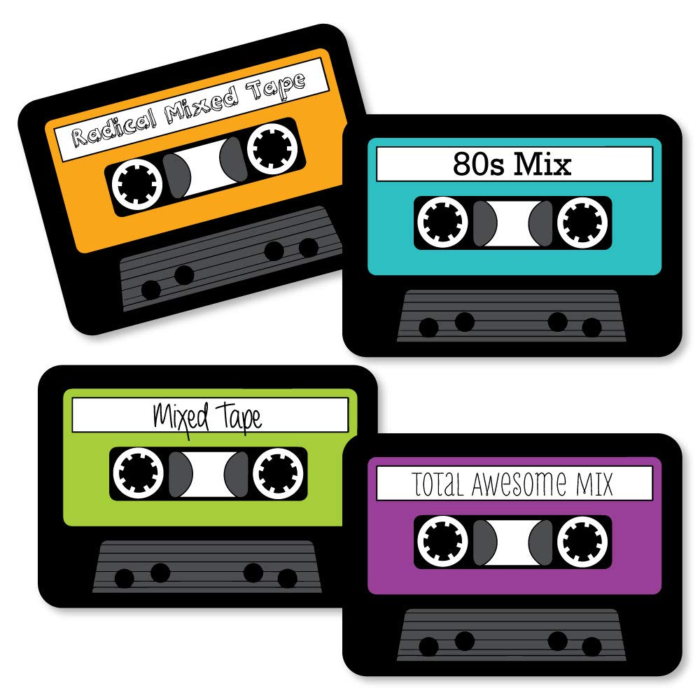 80's clipart audio tape.  s retro paper