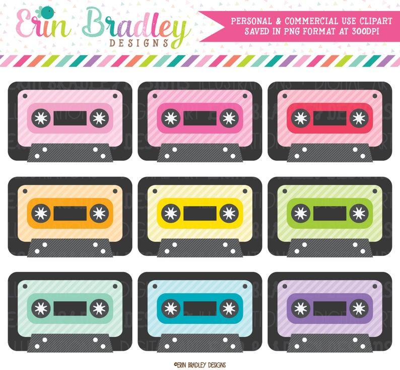 Cassette set s music. 80's clipart audio tape