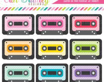 80's clipart audio tape. Cassette art etsy off