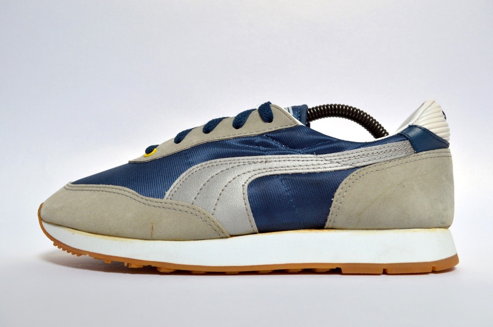 Puma shoe styles vintage. 80's clipart blue sneaker
