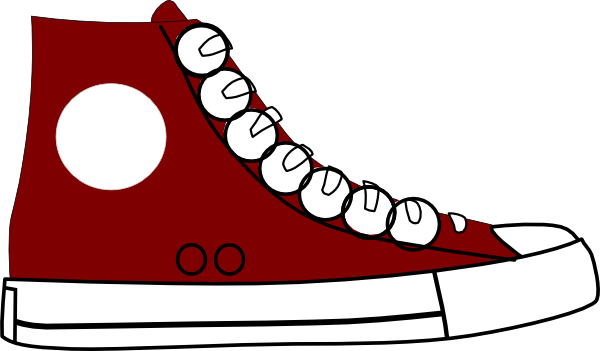 80's clipart blue sneaker.  s free download