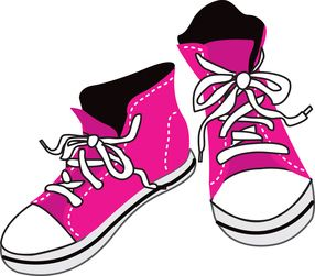 best sexy fashion. 80's clipart blue sneaker