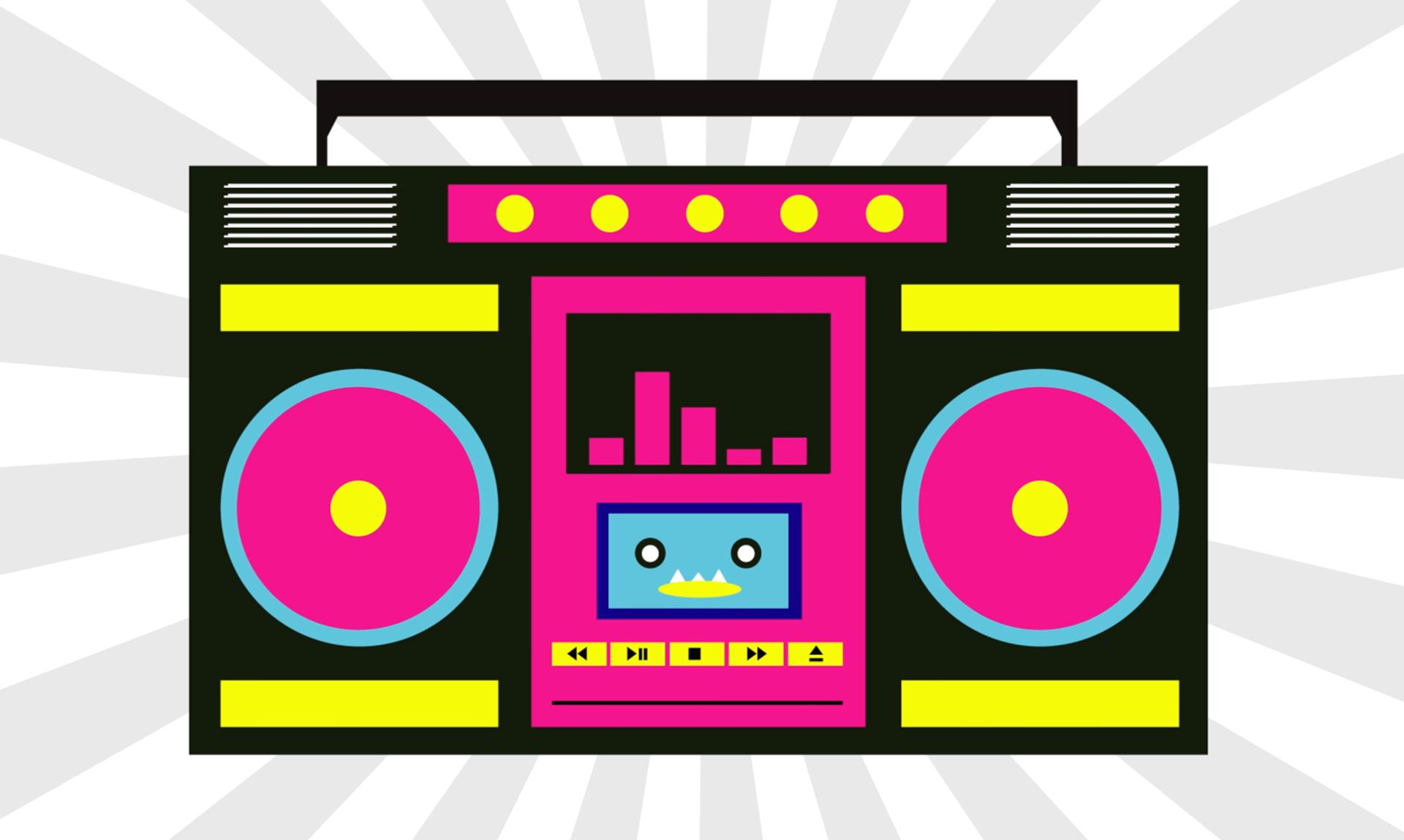 Boom box free download. Boombox clipart pink radio