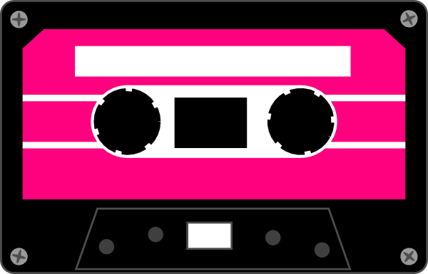 Colorful tapes . Cube clipart neon cassette tape