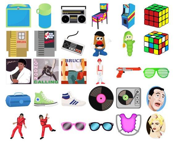80's clipart colorful.  s retro digital