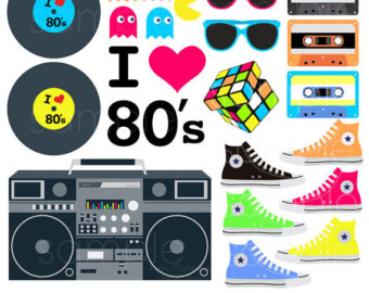 Sneaker s . 80's clipart colorful