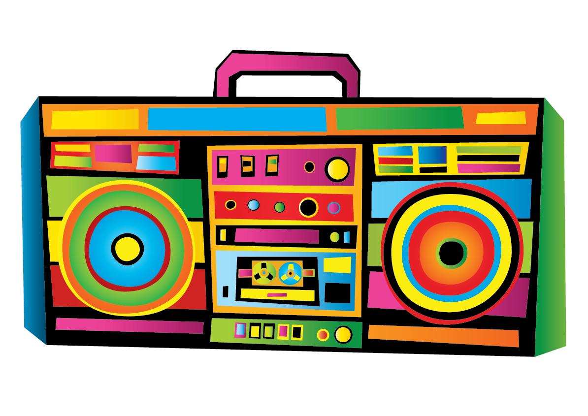 80's clipart colorful. B music stem bmusic
