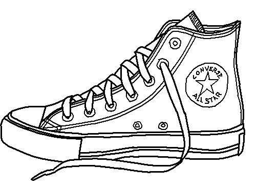 Shoe lineart by conversefan. 80's clipart converse pair