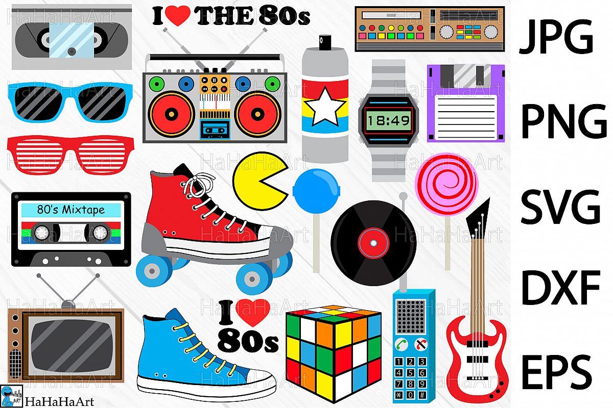 S designs clip art. 80's clipart i love the 80