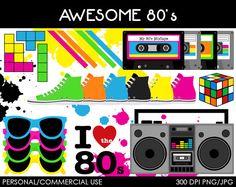 S v digital clip. 80's clipart i love the 80