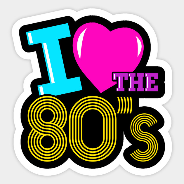 80's clipart i love the 80. S