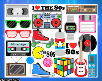 80's clipart i love the 80.  s etsy cutting