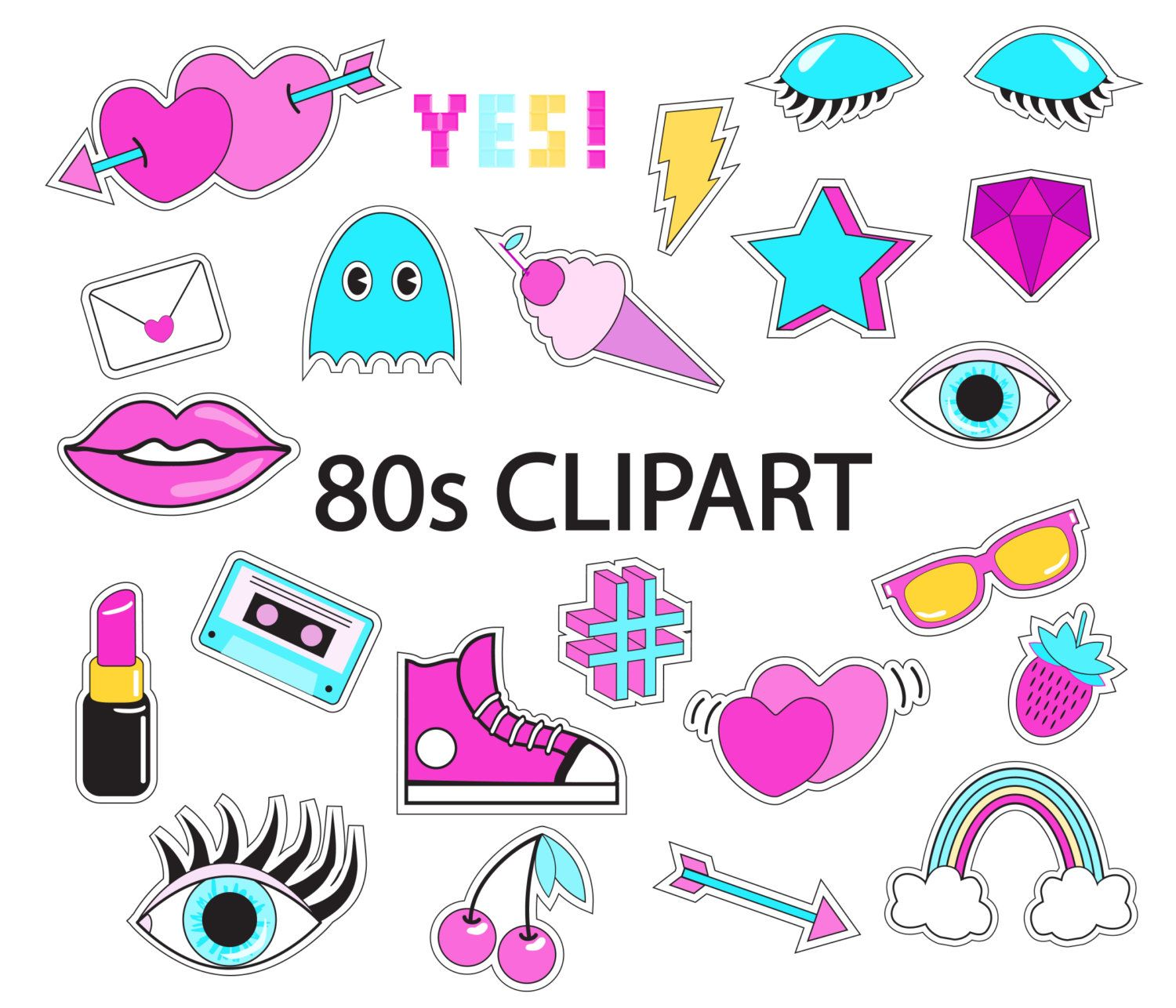 80's clipart mix tape.  s overlay vector