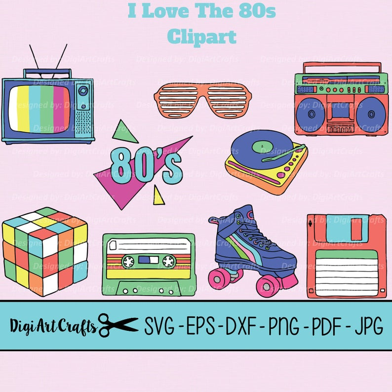 I love the s. 80's clipart old school