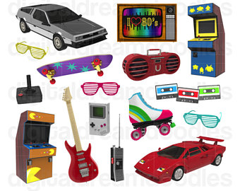 80's clipart stereo.  s etsy clip