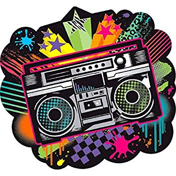 80's clipart stereo. Amazon com amscan totally