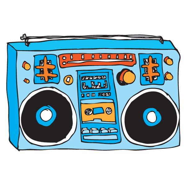 s cilpart stylist. 80's clipart stereo