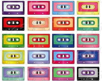80's clipart tape recorder. Cassette clip art etsy