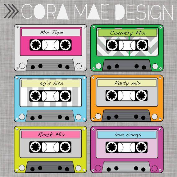 Cassette pdf files png. 80's clipart tape recorder