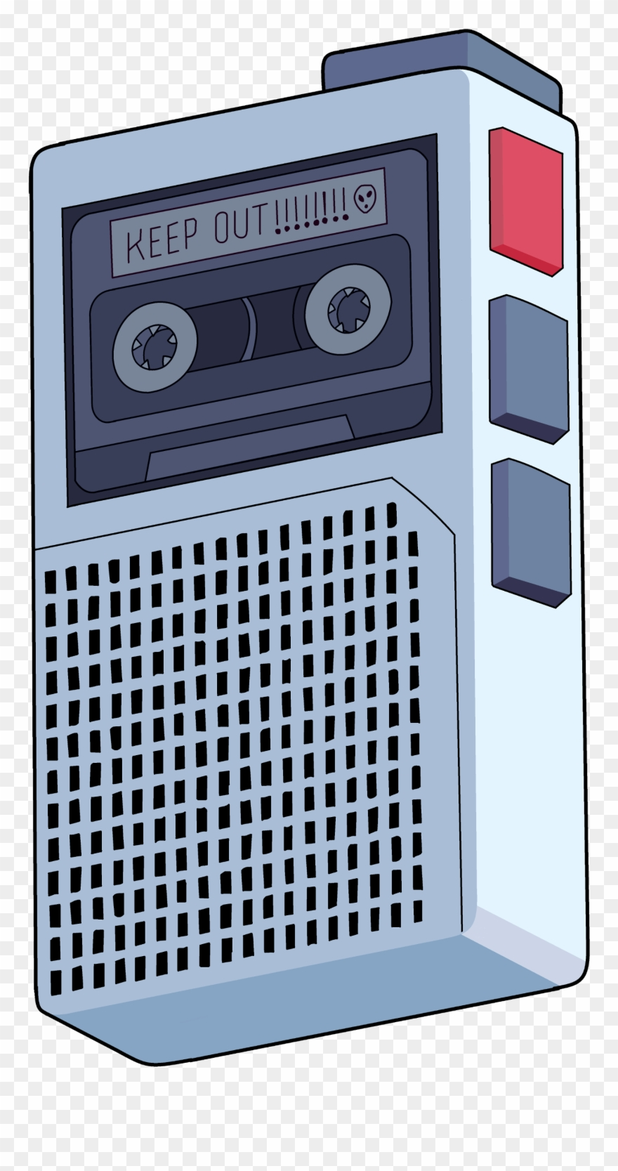 80's clipart tape recorder. Peridot s voice transparent