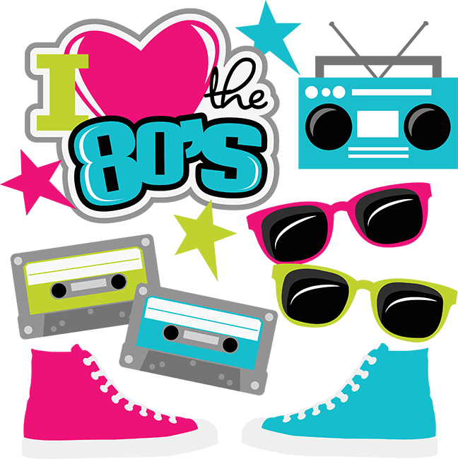 80's clipart transparent. I heart the s