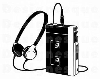 Etsy . 80's clipart walkman