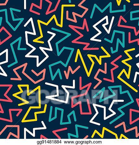 90s clipart eighty. Clip art vector trendy