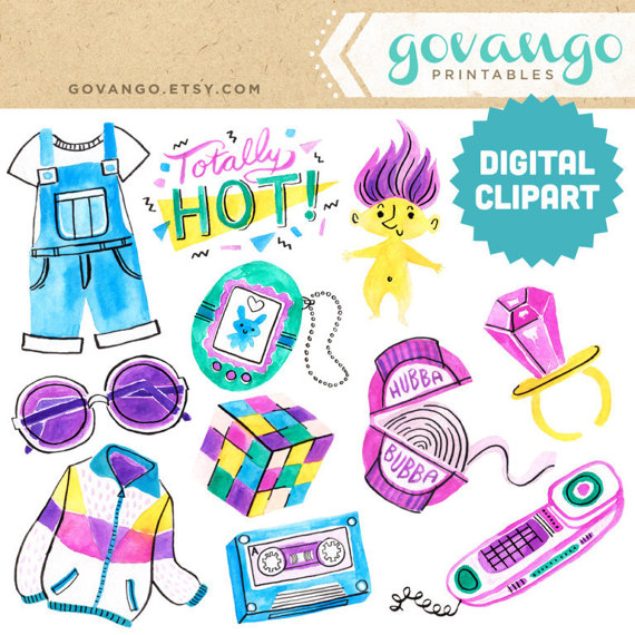 90s clipart.  s digital instant