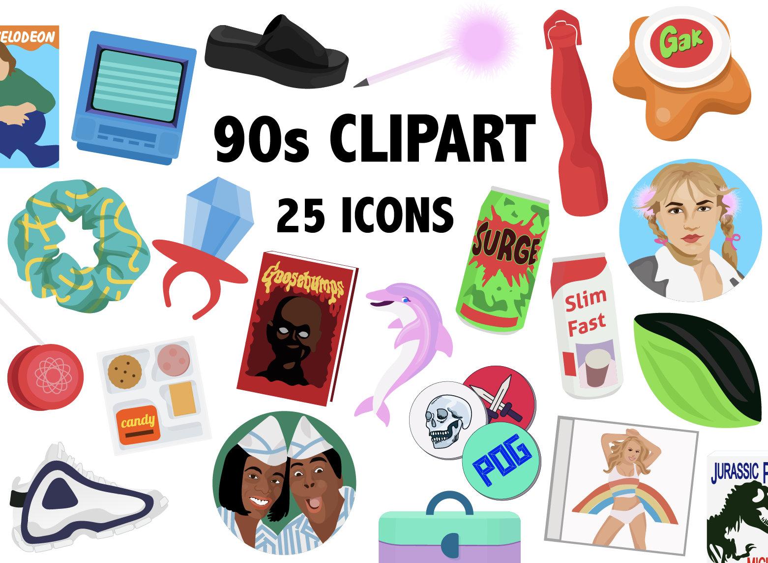 s era clip. 90s clipart