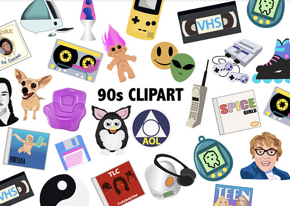 s nineties scrapbook. 90s clipart