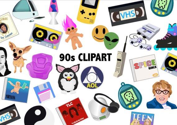 90s clipart 90 computer.  s nineties scrapbook