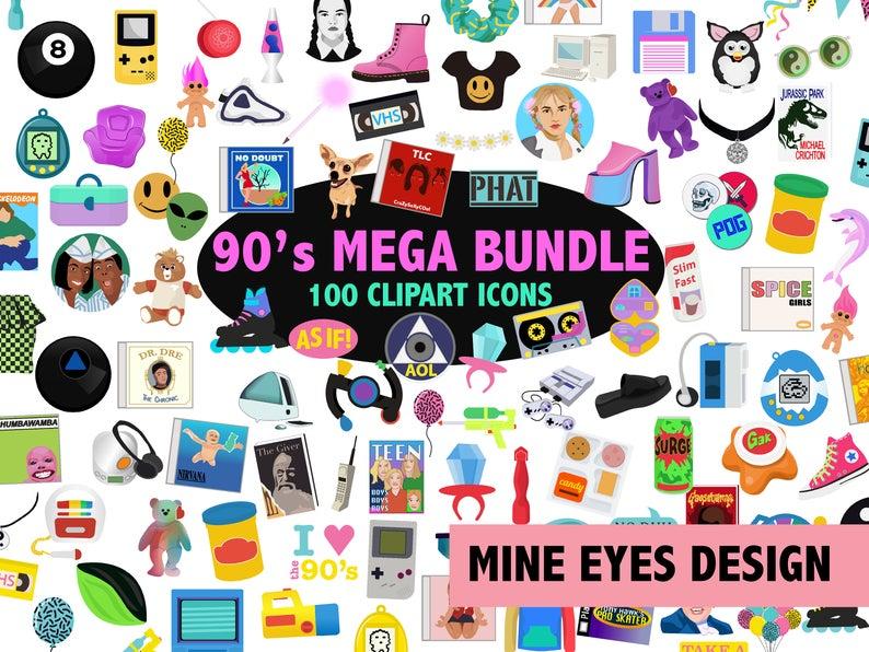 90s clipart 90 phone.  s mega bundle
