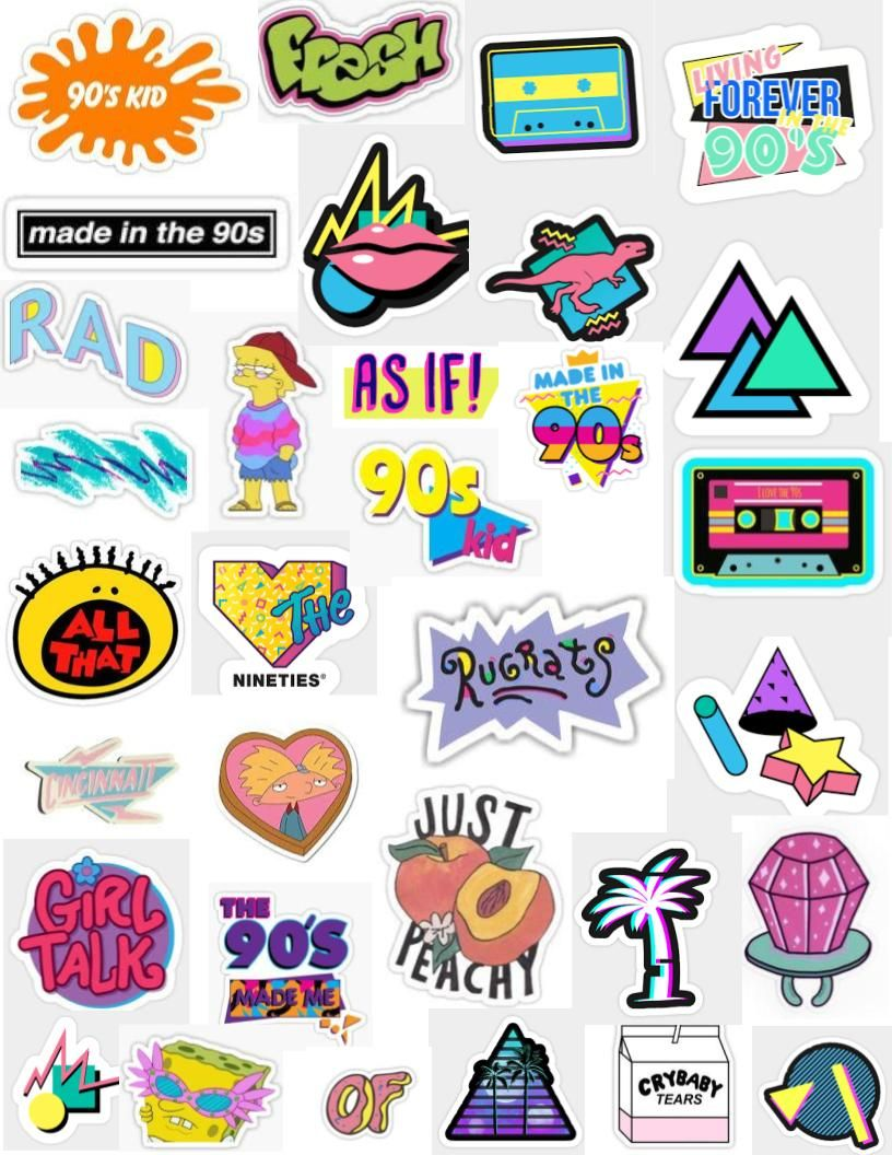 s stickers for. 90s clipart 90 phone